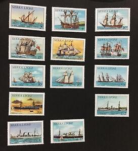 SIERRA LEONE 1984 SHIPS VF MNH & H Sc# 639-52 Missing Sc#649
