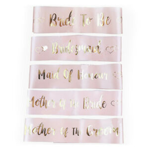 Pink Hot Stamping Sash With Bride To Be Sash Bachelor Party Bride Shoulder S F~