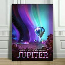"COOL NASA TRAVEL CANVAS ART PRINT POSTER - Jupiter - Space Travel - 12x8"""