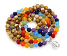 Natural 7 chakra yoga mala bracelet treatment balanced stone prayer 108 beads