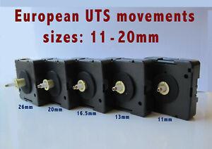 Quartz UTS, HECHINGER, JUNGHANS, HERMLE, KIENZLE movement mechanism, Euroshaft