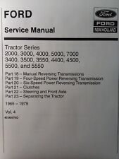 Ford 2000 4500 5500 Tractor Transmission Clutches Master Service vol.4  Manual