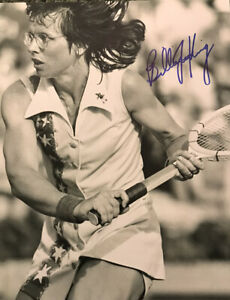 Billie Jean King signed autographed photo Tennis Star Battle of the Sexes