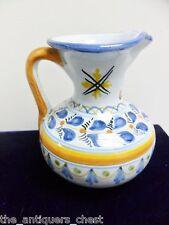 "Talavera,  Puebla, Mexico,majolica  pottery polychrome pitcher 6"" tall [a12]"