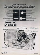 PUBLICITE ADVERTISING 215 1974 CIBIE phare de voiture