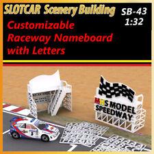 Slotcar Scenery Building Customizable Raceway Nameboard for scalextric, carrera