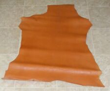 New listing (Cbe9429-11) Hide of Orange Brown Reptile Print Lambskin Leather Hide Skin