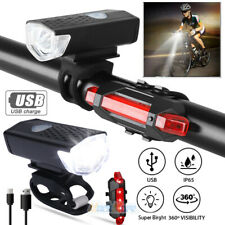 10000 Lumen 8.4V Rechargeable Cycling Light Bike Bicycle LED Front Rear Lamp Set