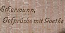 Eckermann Goethe    um 1900