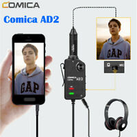 Comica AD2 Microphone Audio Preamp Mixer 2-channel XLR/3.5mm for DSLR Mac iPhone