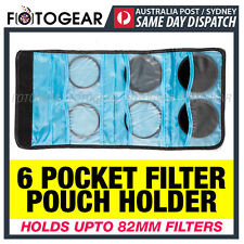 6 Pocket Camera Six Filter Wallet Lens Pouch Adapter Ring Storage Case Bag New