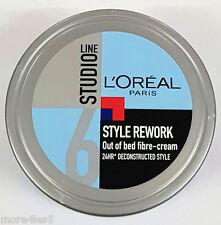 L'Oreal Paris Studio Line Style Rework Out of Bed Fibre Cream Tub 150ml New