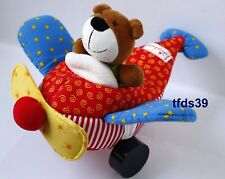 Sigikid Teddy im Flugzeug Stoffflugzeug Bär Stofftier Motorik Rassel Kuscheltier