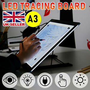 A3LED Drawing Tracing Board Light Box Tattoo Art Stencil UltraThin Lightbox Pad