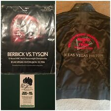 Mike Tyson vs Trevor Berbick Boxing fight program,Jacket (Size L)& signed ticket