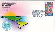 Chile 1991 FDC XXI Asamble General Organizacion de los Estados Americanos OEA