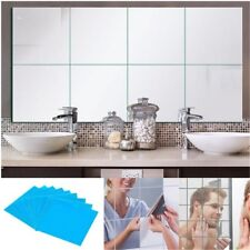 4Pcs DIY 15*15CM Square Mirror Tile Wall Stickers 3D Decal Home Room Decoration