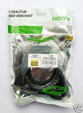 100% Original Terabyte 5M (4m 2ft) Gold HDMI Male to Male Cable LED LCD Full HD