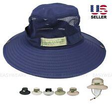 Boonie Bucket Hat Military Tactical Cap Wide Brim Sun Visor Fishing Garden Mesh