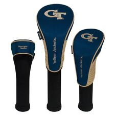 GEORGIA TECH YELLOW JACKETS EMBROIDERED DRIVER FAIRWAY HYBIRD SET 3 HEADCOVERS