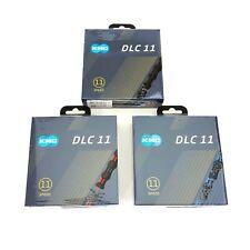 KMC X11SL DLC  Colors 11s Bike Chain Shimano/SRAM/Campy 118Link Black/Red/Blue