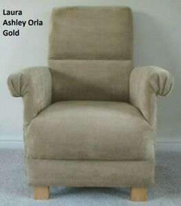 Kid's Chair Laura Ashley Orla Gold Fabric Children's Armchair Small Child's New