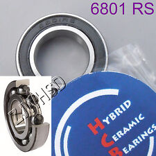 6801 2RS Si3N4 Hybrid Ceramic Ball Bearing Rubber Sealed 12 x 21 x 5mm