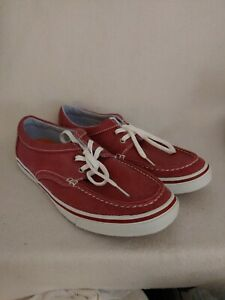 Men Timberland Earthkeepers Anti Fatigue Red Canvas Boat Shoes Size 10 9824