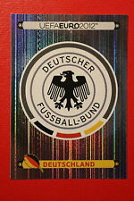 Panini EURO 2012 N. 224 DEUTSCHLAND BADGE NEW With BLACK BACK TOPMINT!!
