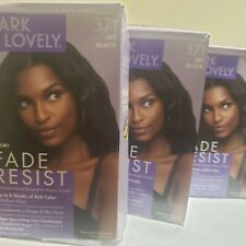 3pack Dark and Lovely Fade Resist Rich Conditioning Color Dye, Jet Black. New
