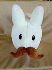 "Kidrobot Large 14"" Plush STACHE LABBIT White Bunny Rabbit w/Mustache"