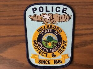 Hillsboro North Dakota Police Department Patch