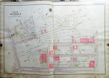 1919 INWOOD MANHATTAN NY ORIG G.W. BROMLEY MAP ATLAS DYCKMAN AV- WEST 207TH ST