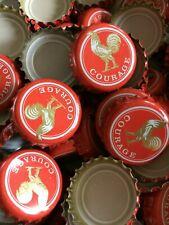 25 Courage Bottle Tops - Beer Crown Caps - Beer Bottle Tops - NO DENTS
