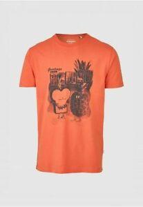 Cleptomanicx  T-Shirt TOAST HAWAII  orange  Gr.: S - XXL 100 % Bio Baumwolle
