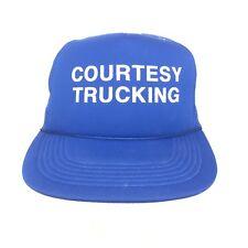 Mens Foam Mesh Snapback Dad Trucker Hat Courtesy Trucking Vintage New 68f66b939d0c