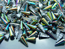20pcs Tchèque Spike/Cône Perles de Verre Taille 4x10mm crystal vitrail