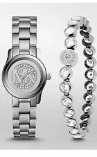 MICHAEL KORS WOMEN'S STAINLESS SILVER  WATCH/BRACELET GIFT SET