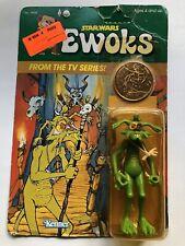 1985 Vintage Star Wars Dulock Shaman Ewoks Action Figure Factory Sealed MOC