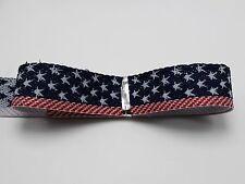 "5 Meters 20mm(3/4"") Stars & Stripes Patriotic Flag Grosgrain Ribbon Trim Craft"