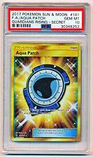 Pokemon Sun Moon Guardians Rising Aqua Patch Trainer Full Art Secret Rare PSA 10