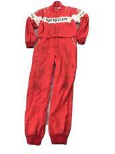 "Vintage JAYS Racewear 1986 NOMEX III REFUELLER suit Size 44"" Red"