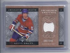 07-08 2007-08 ARTIFACTS STEVE SHUTT TREASURED SWATCHES JERSEY /299 CANADIENS
