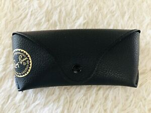Ray Ban Pebbled Leather Sunglasses Eyeglasses Case Black Slim