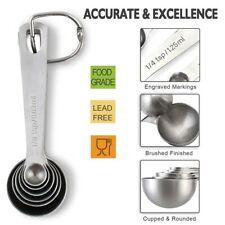 Set Of 6 Measuring Spoons Stainless Steel Dry Liquid Ingredients Baking Cooking
