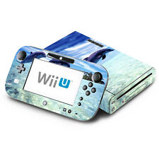 Skin Decal Cover for Nintendo Wii U Console & GamePad - Dolphin Beach