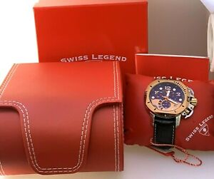 Mens Swiss Legend Scubador Chronograph Watch # 110003466 316L