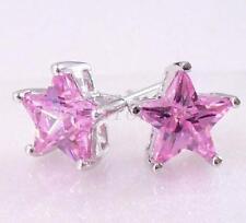 Orecchini di bigiotteria bottoni farfalline rosa