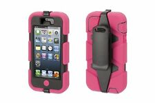 Griffin Survivor Military Rugged Case iPhone 5/5s/SE with clip, Pink & Black
