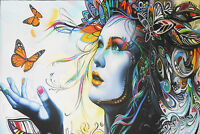 120cm X 80cm  urban princess contemporary street art modern painting Australia